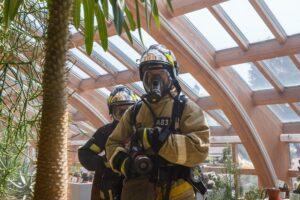 Пожарно-тактические учения в здании Виноградной оранжереи