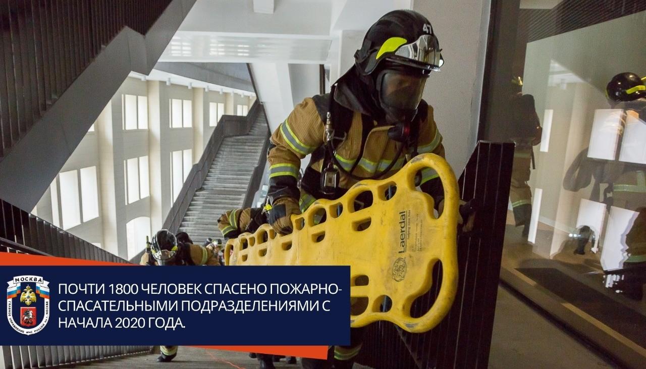 Почти 1800 человек спасено пожарно-спасательными подразделениями с начала 2020 года