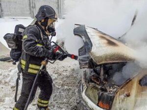 Пожар в автомобиле!